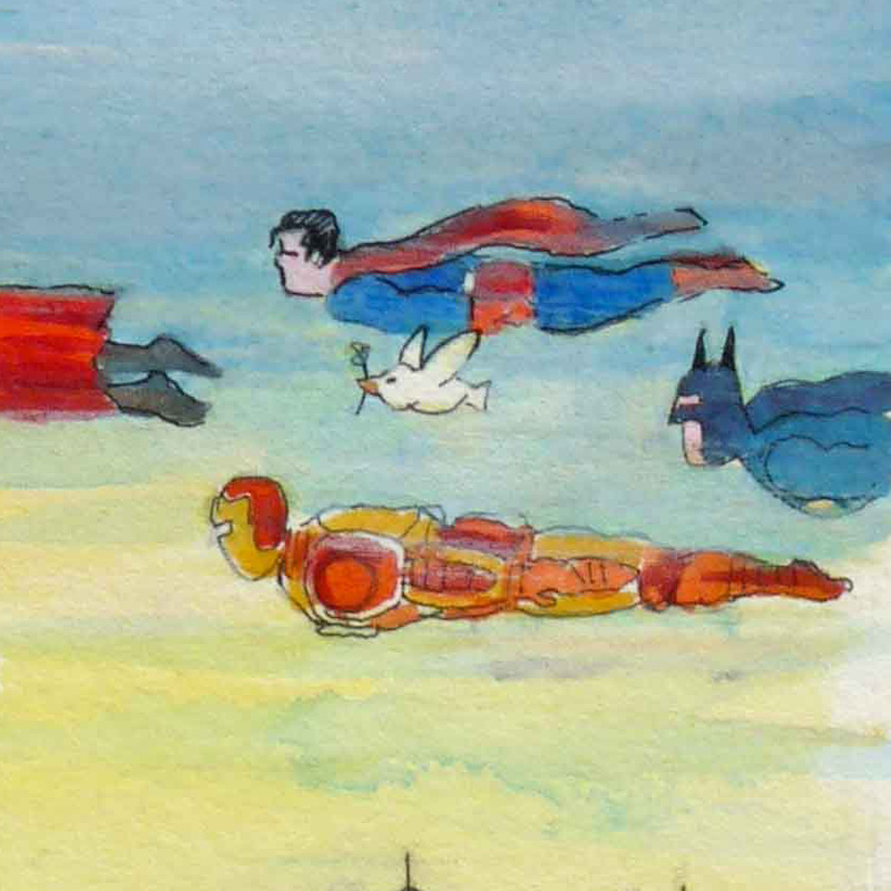 jean-martial-dubois_illustration_aquarelle_paris__dreamlike_coulisse_theatre_super_heros-art05b
