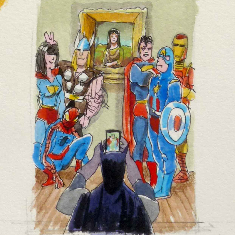 jean-martial-dubois_illustration_aquarelle_paris__dreamlike_coulisse_theatre_super_heros-art05c